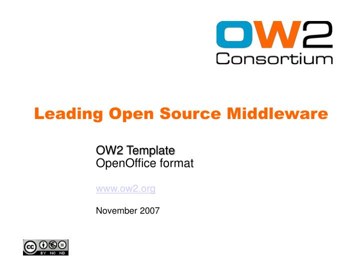 Ow2 template openoffice format www ow2 org november 2007
