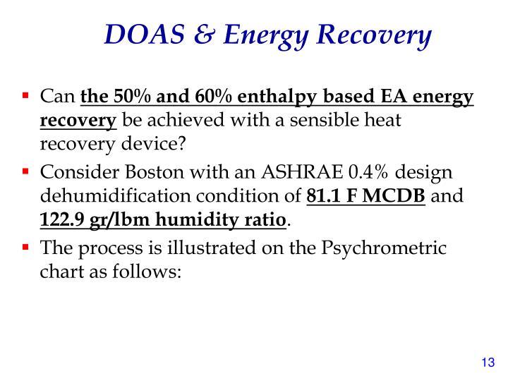 DOAS & Energy Recovery