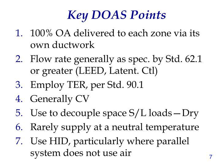 Key DOAS Points