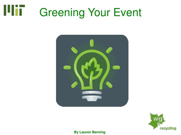 greening your event