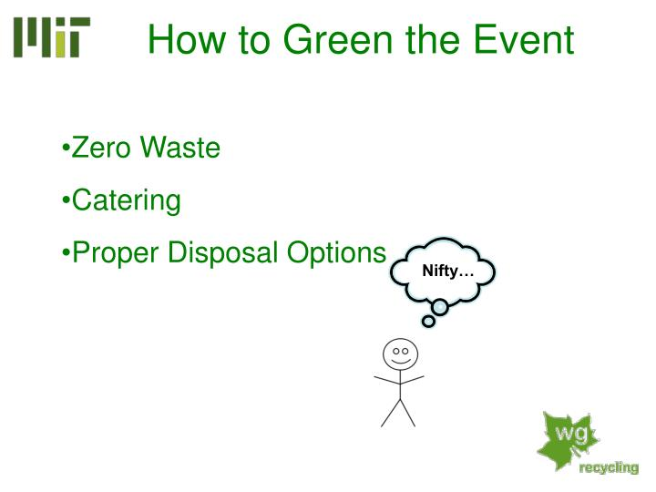 How to Green the Event