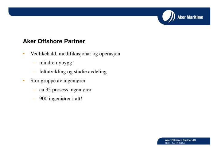 Aker Offshore Partner