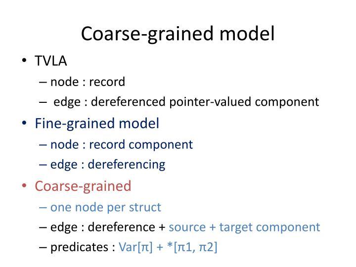 Coarse-grained model