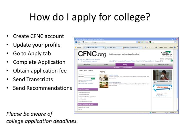 How do I apply for college?