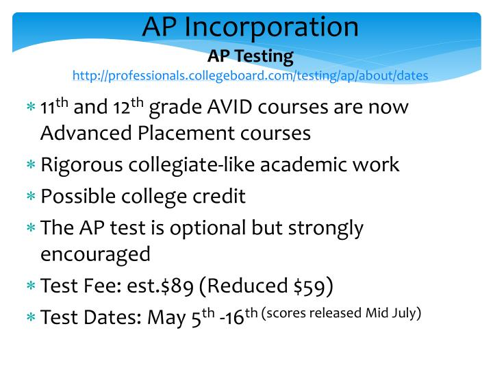 AP Incorporation