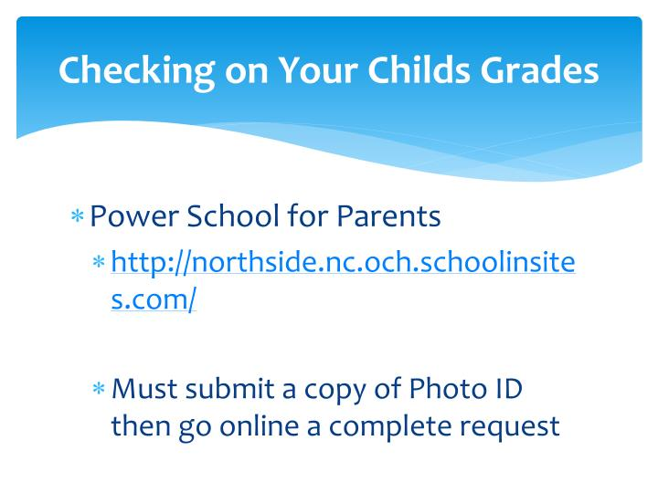 Checking on Your Childs Grades