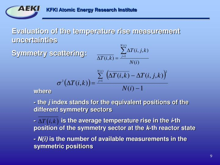 Evaluation of the temperature rise measurement uncertainties