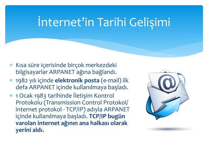 İnternet'in Tarihi Gelişimi
