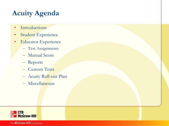 Acuity Agenda