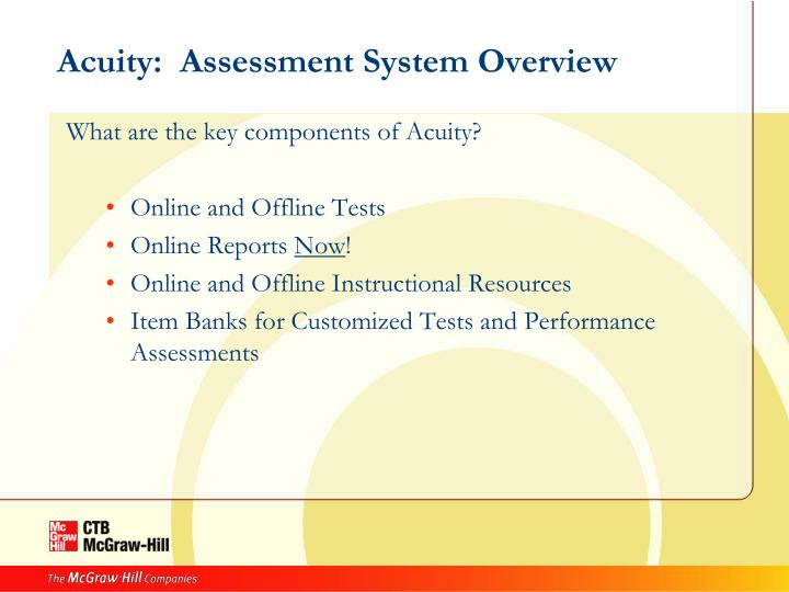 Acuity:  Assessment System Overview