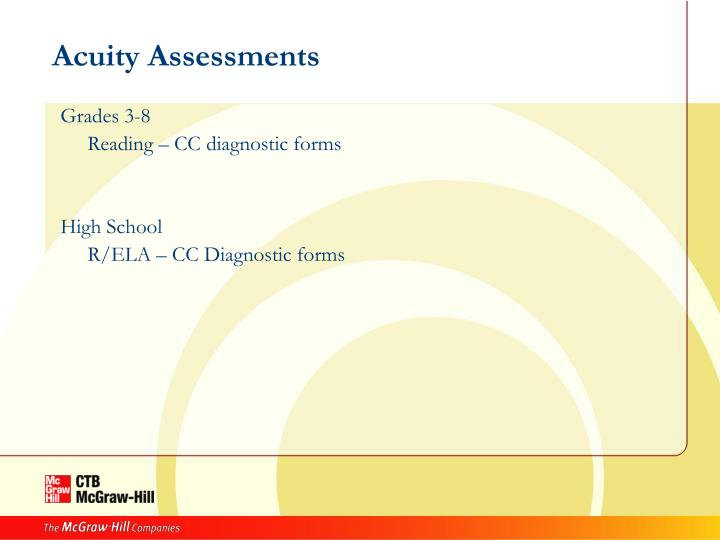 Acuity Assessments