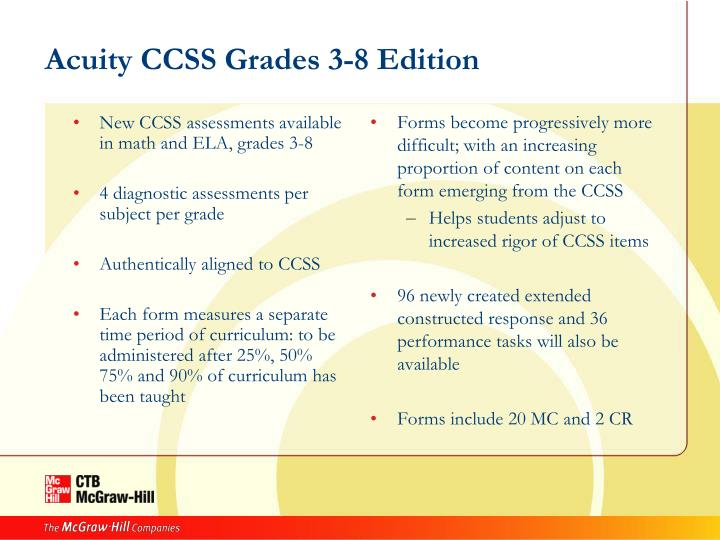 New CCSS assessments available in math and ELA, grades 3-8