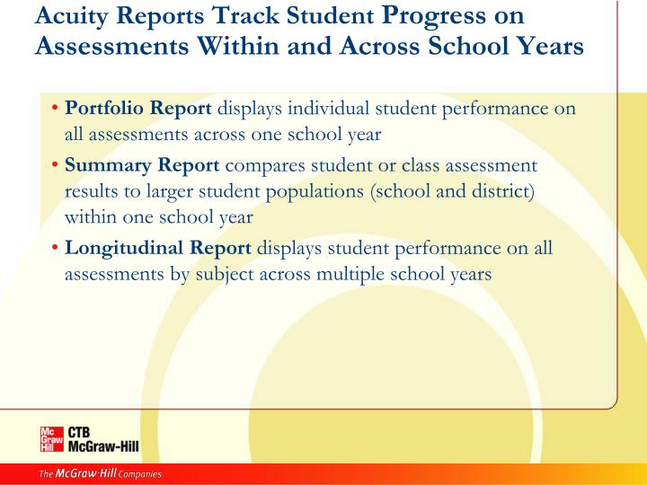 Acuity Reports Track Student