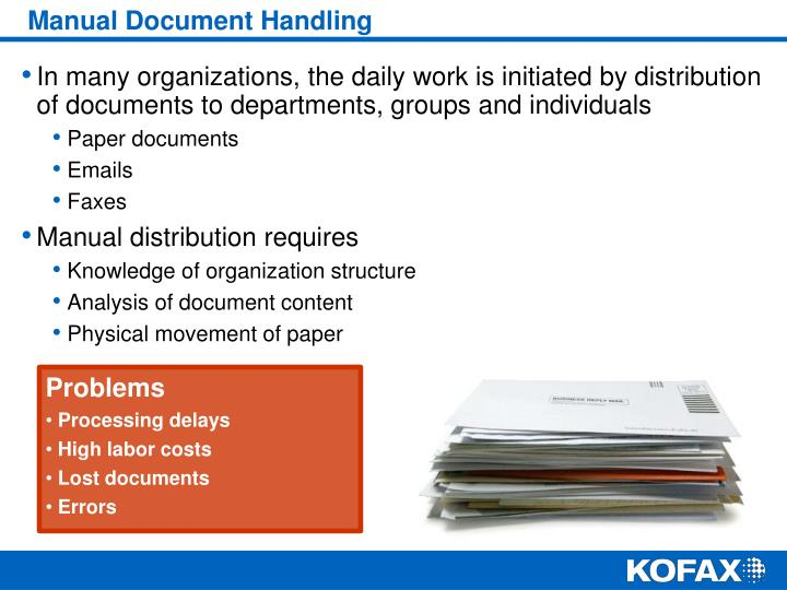 Manual Document Handling