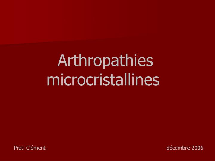 Arthropathies
