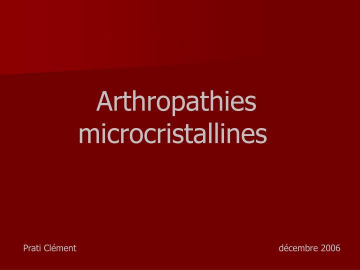 Arthropathies