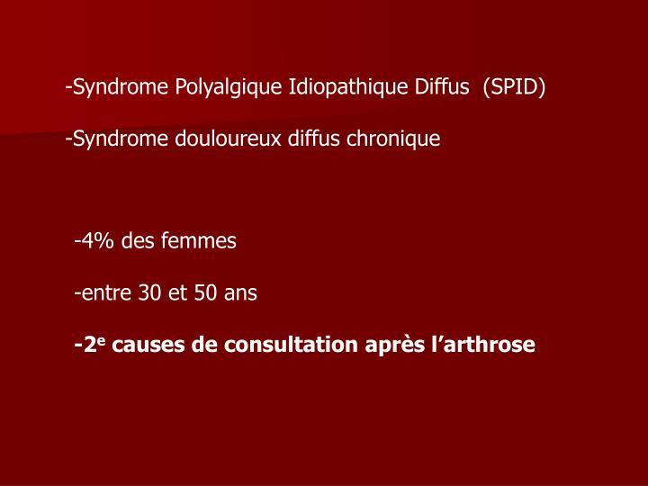 Syndrome Polyalgique Idiopathique Diffus  (SPID)