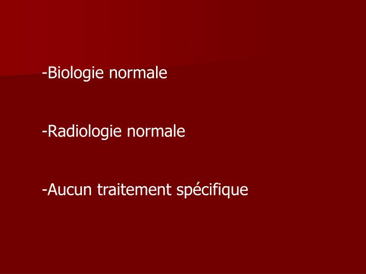 Biologie normale