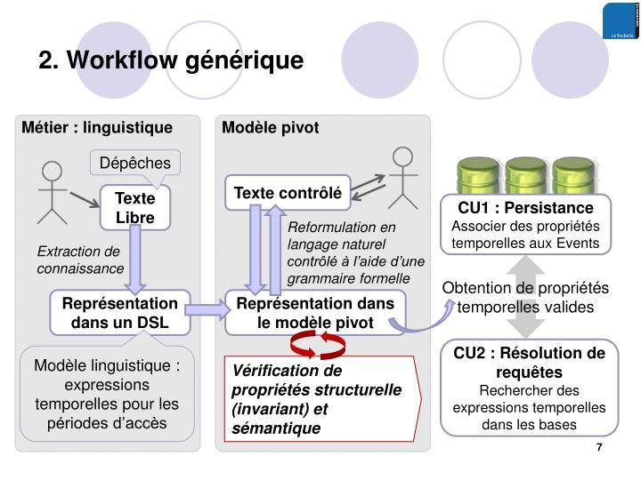 2. Workflow générique