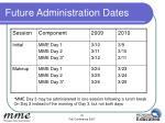 future administration dates