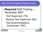 high school eligibility requirements1