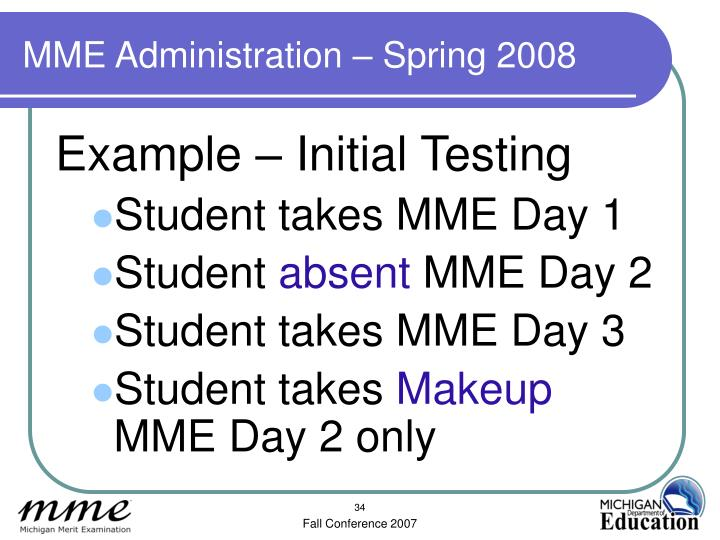 MME Administration – Spring 2008