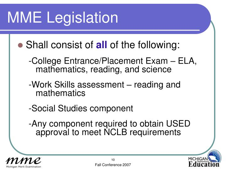 MME Legislation