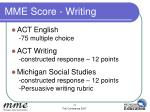 mme score writing