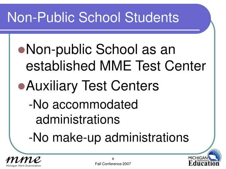 Non-Public School Students