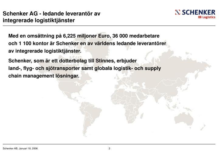 Schenker AG - ledande leverant