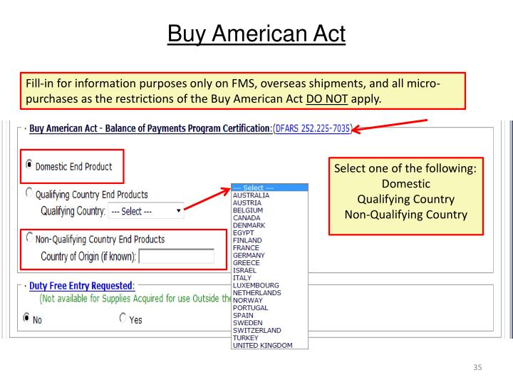 Buy american act   Essay Example