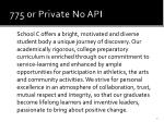 775 or private no api