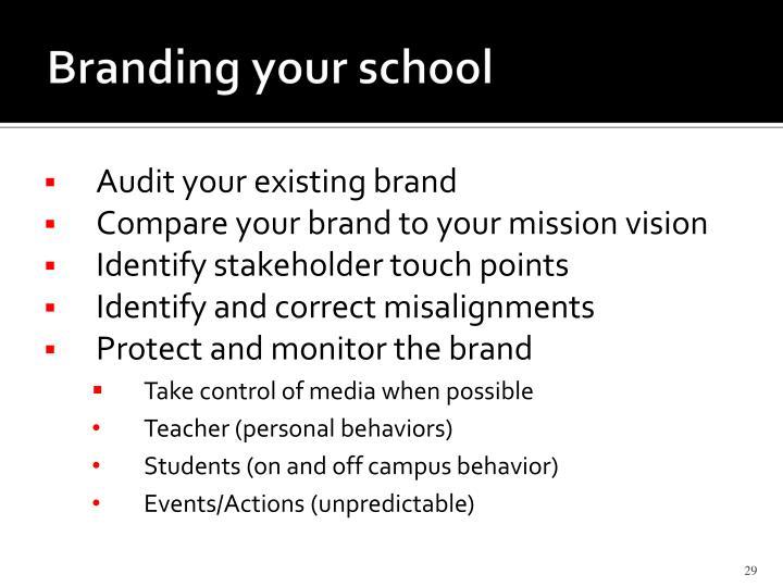 Branding your school