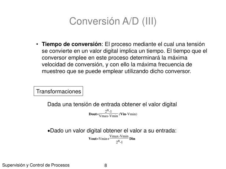 Conversión A/D (III)