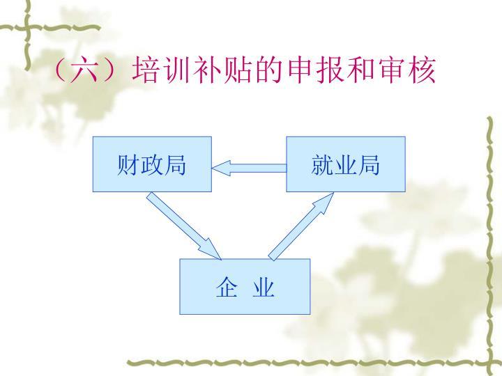 (六)培训补贴的申报和审核