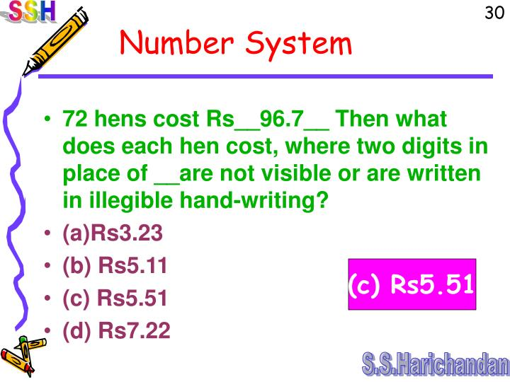 72 hens cost Rs__96.7__ Then what does each hen cost, where two digits in place of __are not visible or are written in illegible hand-writing?