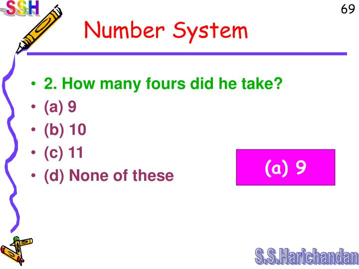2. How many fours did he take?