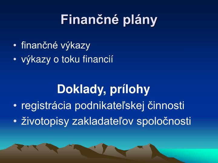 Finančné plány