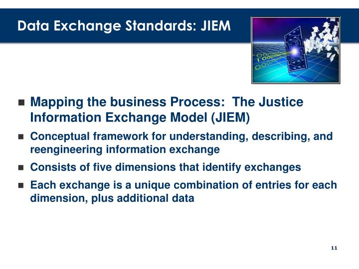 Data Exchange Standards: JIEM