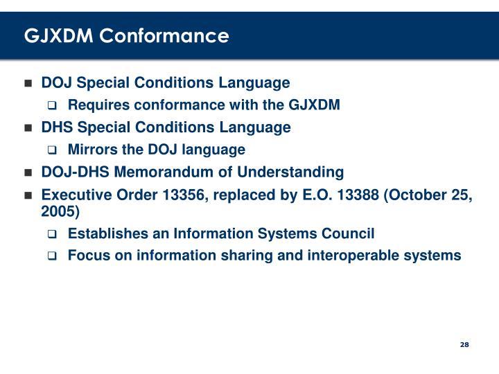 GJXDM Conformance