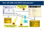 how will jiem and iepdt interoperate
