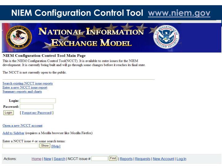 NIEM Configuration Control Tool