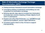 role of information exchange package documentation iepd