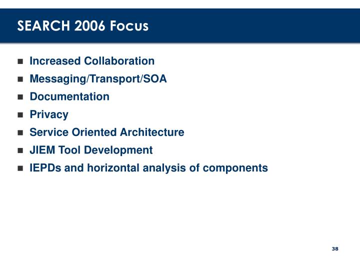 SEARCH 2006 Focus