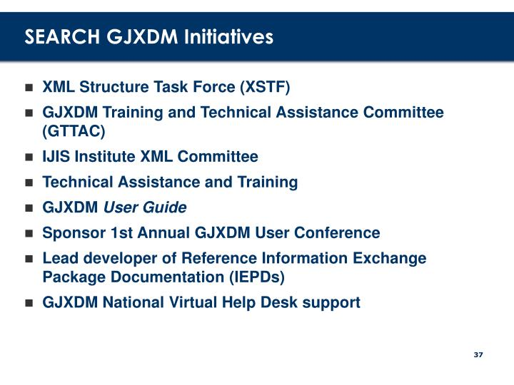 SEARCH GJXDM Initiatives
