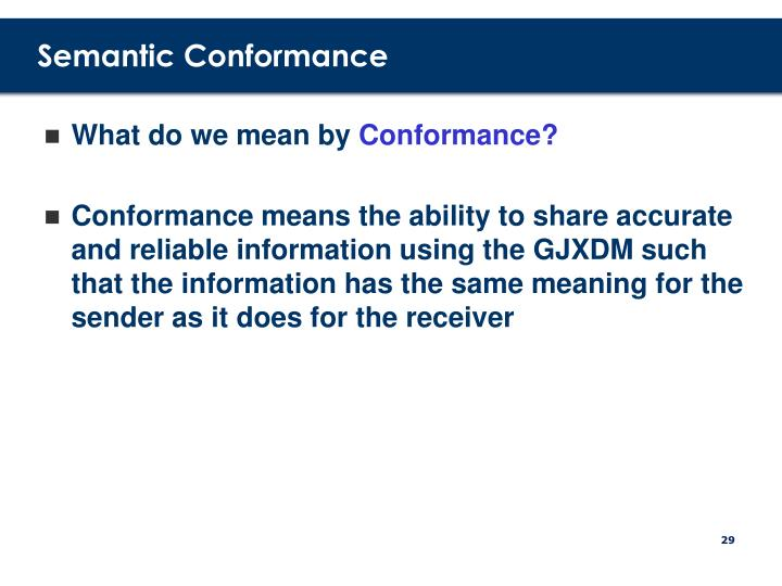 Semantic Conformance