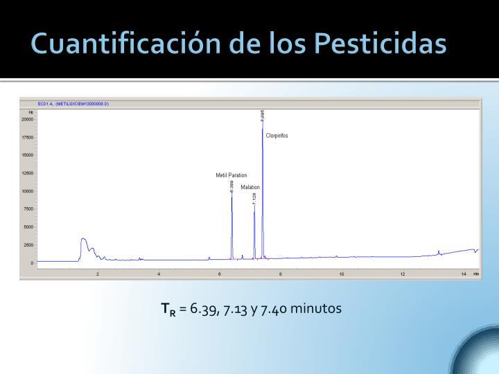 Cuantificación de los Pesticidas