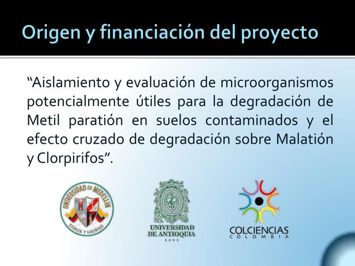 Origen y financiación del proyecto