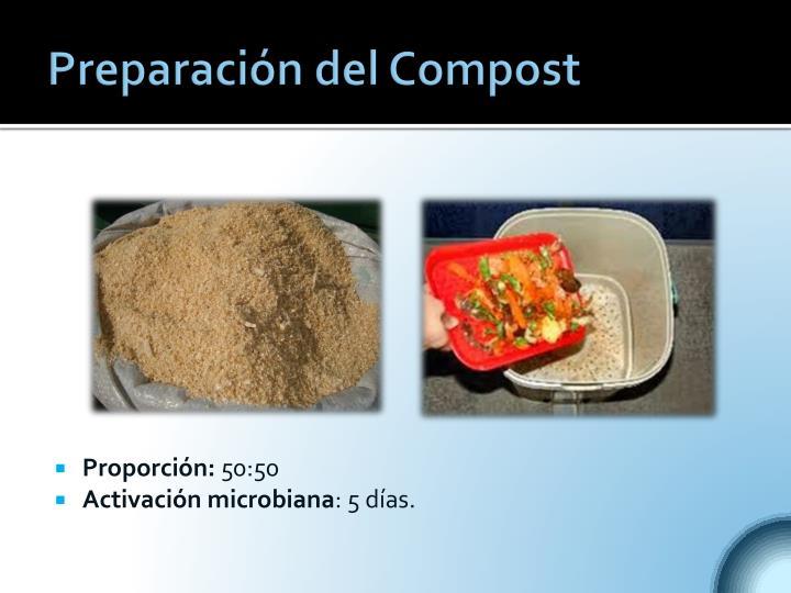 Preparación del Compost
