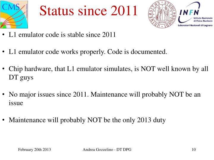 Status since 2011